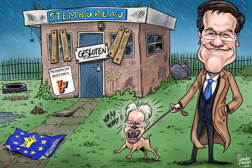 cartoon mark-rutte vvd