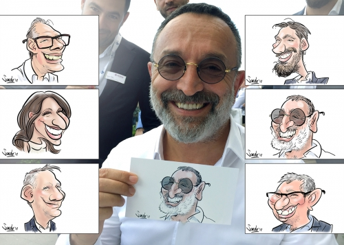 sneltekenaar, karikaturist, digitaal tekenaar. livedigitalcaricature, caricatureentertainment, feest, event, neercanne, chateauneercanne, entertainment